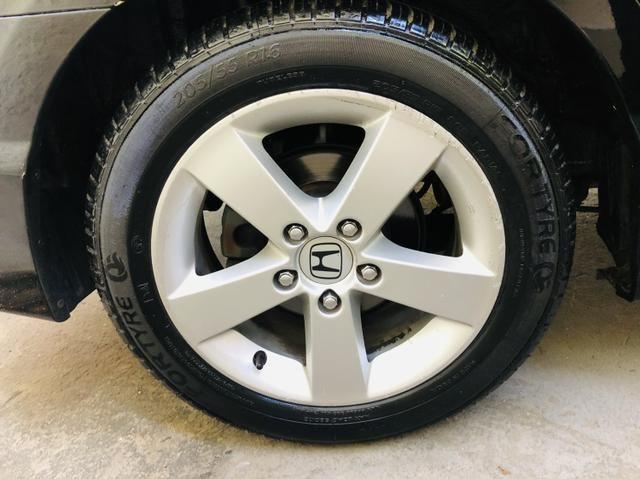 Honda civic 2008 Automático couro GNV G5 Pneus novos Revisado - Foto 8