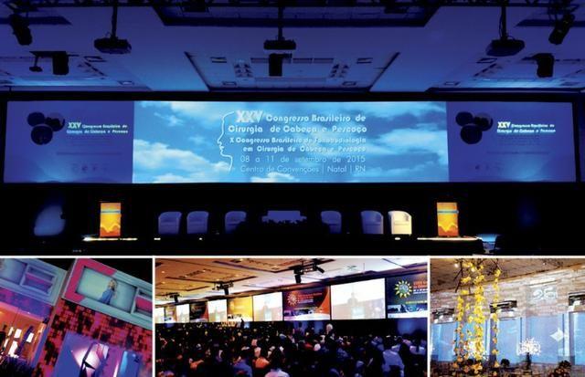Aluguel de datashow, tela de projeção, som, microfones para eventos. * - Foto 2