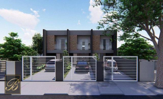 Sobrado com 3 dormitórios à venda, 99 m² por R$ 285.000,00 - Aventureiro - Joinville/SC