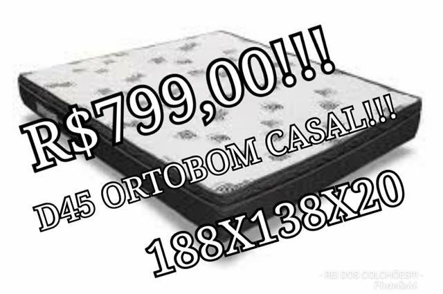 Black friday!!!!colchão d45 ortobom casal!!!r$799,00!!!em ate 10x
