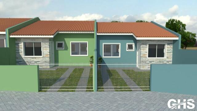 Casas novas 3 dormitorios bairro jd ceu azul campo largo, entrada facilitada - Foto 2