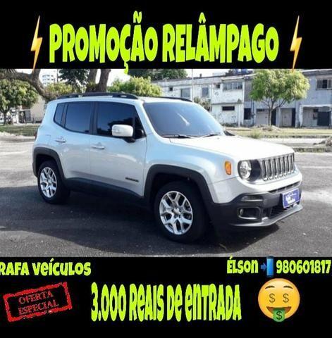 Promoção relâmpago jeep renegade 1.8 2016 com r$ 3.000 mil de entrada
