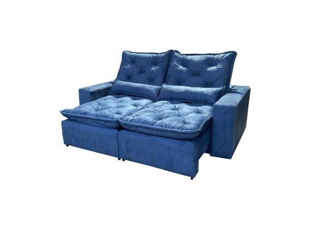 Sofá Retrátil e Reclinável Elegance 2,30m zxz208 - Foto 2