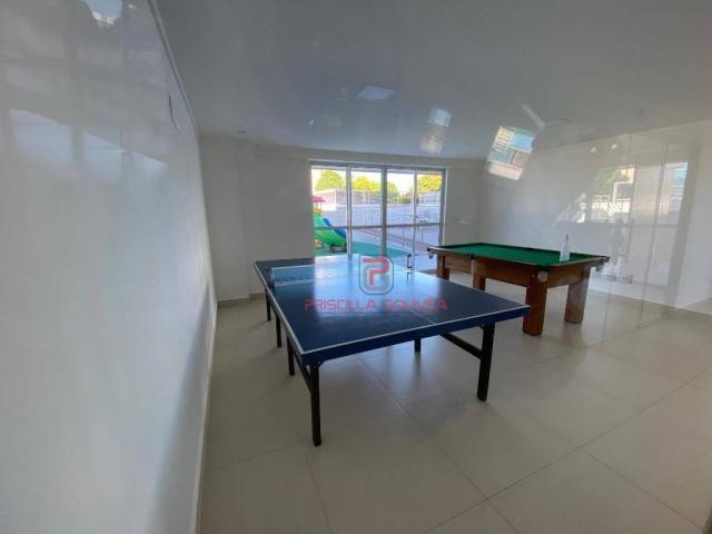 Apartamento novo, 2 quartos, andar alto, varanda gourmet e 2 vagas de garagem - Foto 9