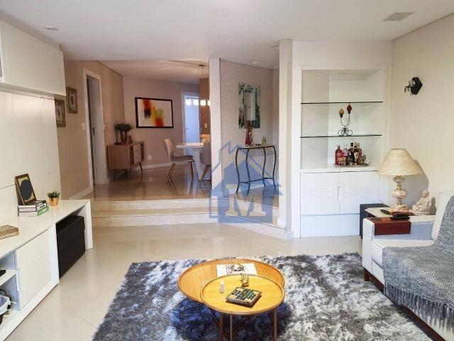 Lindo Apartamento Semimobiliado, 2 Suítes e 1 Quarto, Sacada Gourmet, no Centro! - Foto 2