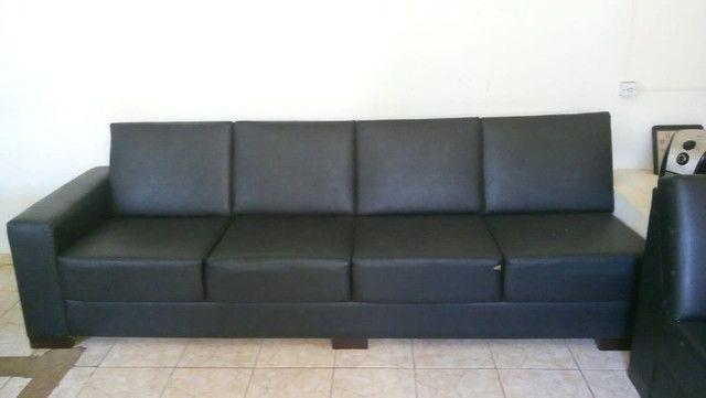Sofas de courvin preto