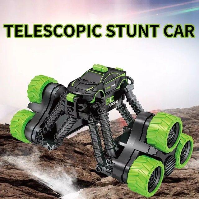 Carrinho Brinquedo Transformar Dublê 360º Gira Alta Velocidade com Controle