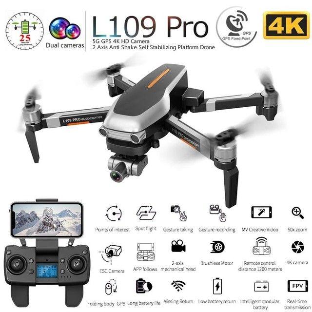 Drone L109 Pro/Matavish3 1.2km Câmera 4k 2 Eixos de Estabilizador Maleta - Foto 3