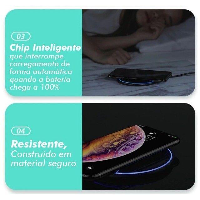 Carragador Sem Fio Wireless por Indução Qi Charger - Foto 3