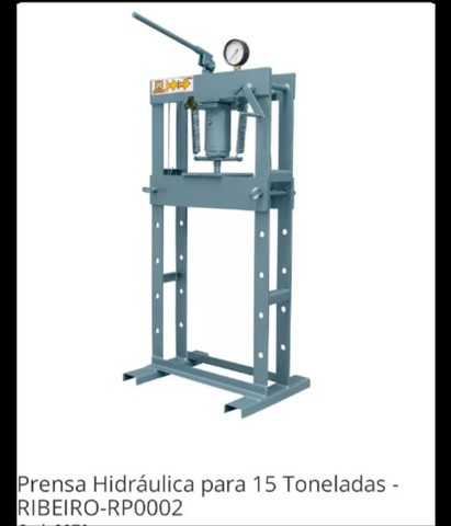 Prensa 15 toneladas-Ribeiro equipamentos