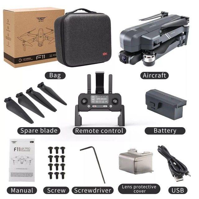 Drone SJRC F11 Pro 4k GPS Maleta Gimbal Estabilizador Eletrônico de imagens e EIS 1500mts - Foto 5