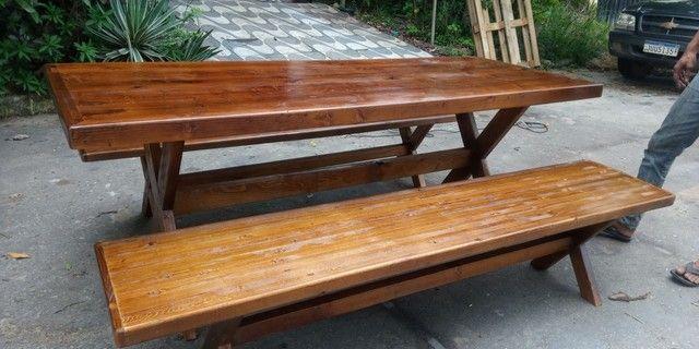 Mesa com 2 bancos pe x - Foto 6
