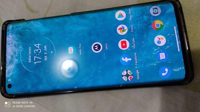 Celular smartphone Motorola edge vermelho bordas curvas - Foto 5