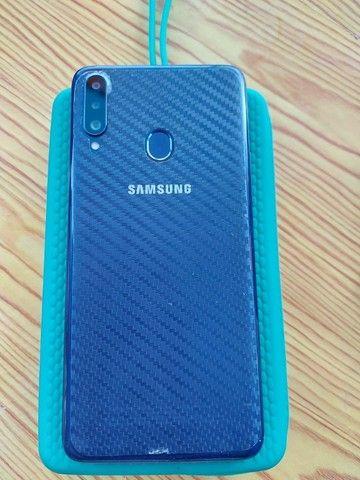 Smatphone Samsung A20s, 32g, novo e sem marcas de uso, com pelicula frente e traz - Foto 3