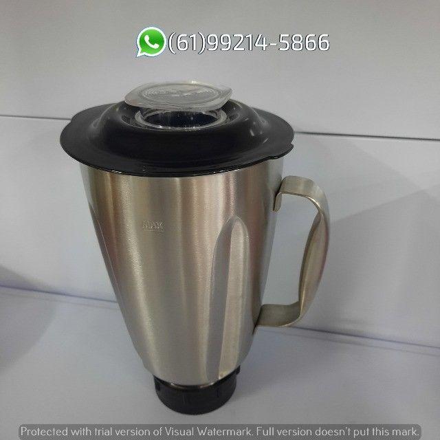 Copo de Inox 1,5 Litro Original 1,5Li Completo Liquidificador Skymsen - Foto 2