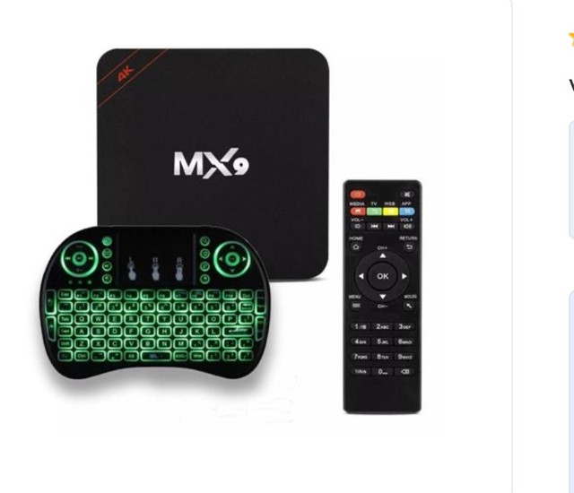 Tv box mx9 com mini teclado  - Foto 3