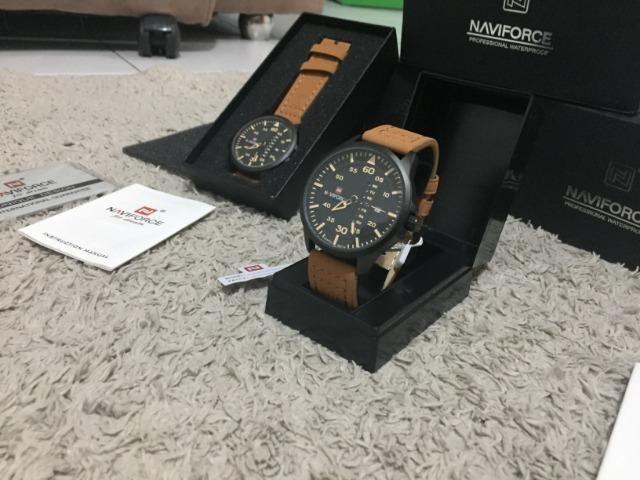 Relógios De Pulso Masculino Naviforce Quartzo Couro lacrado a pronta entrega - Foto 4