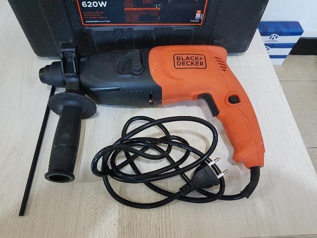 Martelete Perfurador SDS 620W KD620K-BR Black & Decker - 220v - Foto 2