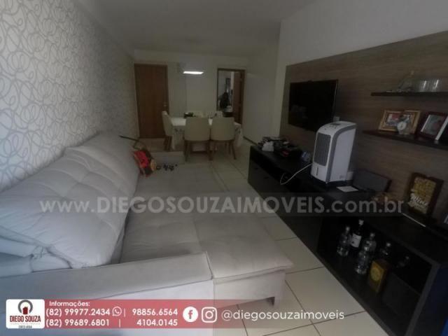 Apartamento para venda em maceió, farol, 3 dormitórios, 1 suíte, 1 banheiro, 2 vagas - Foto 3