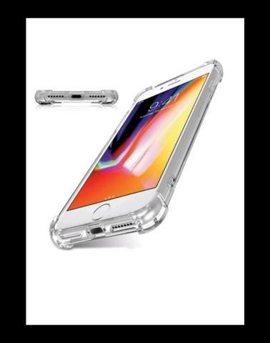Capinha de iPhone 7 e 8 com pelicula de vidro - Foto 2