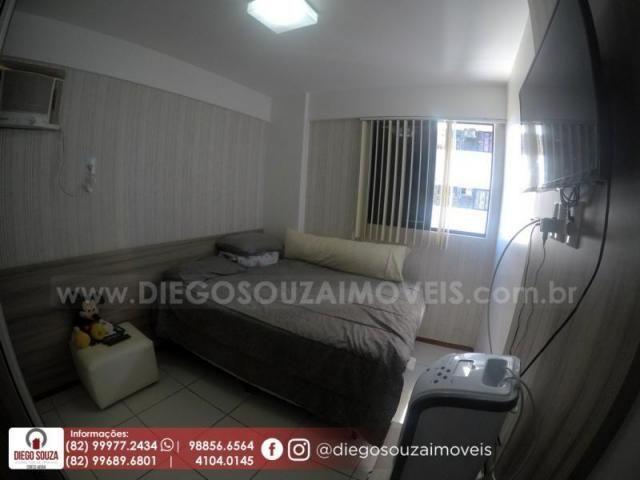 Apartamento para venda em maceió, farol, 3 dormitórios, 1 suíte, 1 banheiro, 2 vagas - Foto 11