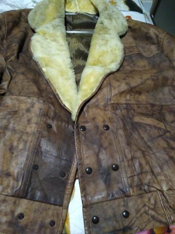 Vendo casaco de couro novo - Foto 2