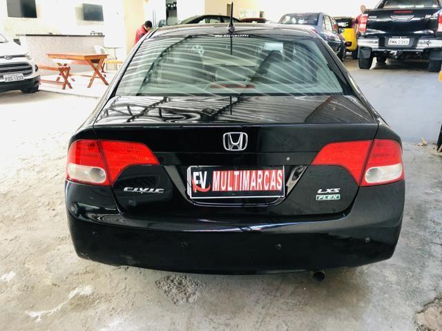 Honda civic 2008 Automático couro GNV G5 Pneus novos Revisado - Foto 6