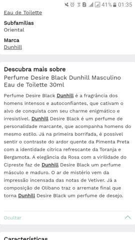 Perfume Desire Black Dunhill Masculino Eau de Toilette 30ml - Foto 3