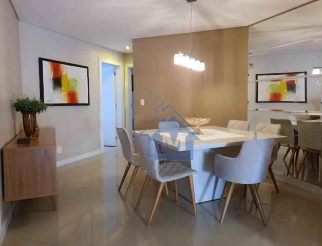 Lindo Apartamento Semimobiliado, 2 Suítes e 1 Quarto, Sacada Gourmet, no Centro! - Foto 4