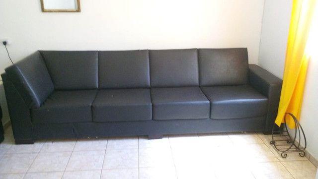 Sofas de courvin preto - Foto 2