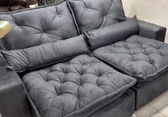 Sofá Retrátil e Reclinável Elegance 2,30m zxz208 - Foto 3