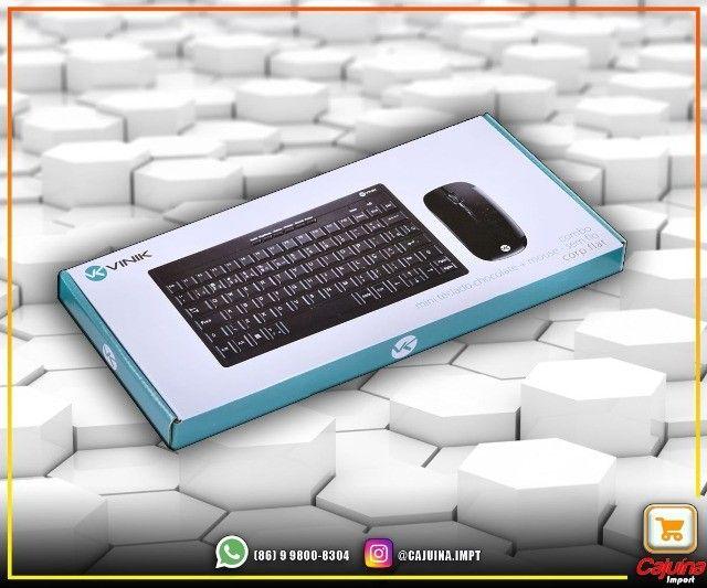 Teclado Mini E Mouse Sem Fio Dynamic Flat Abnt2 1200Dpi Preto Usb - Dc110 M21sd9sd21 - Foto 2