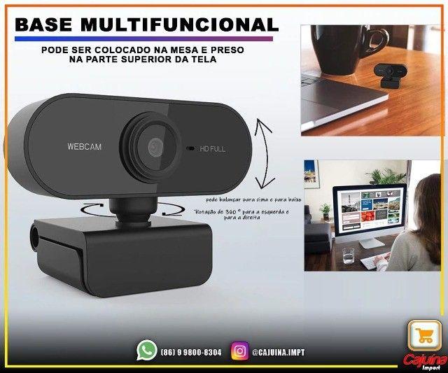 Webcam 1080p Full Hd Câmera Computador com Microfone M21sd9sd21 - Foto 4