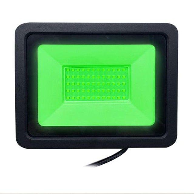 Refletor  de Led 20 whats Luz Verde