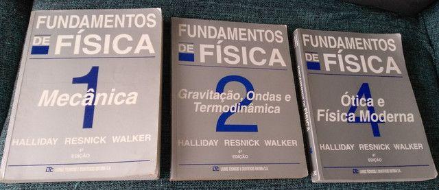 Fundamentos de Física, Halliday. Livros 1, 2, 3 e 4. Usados