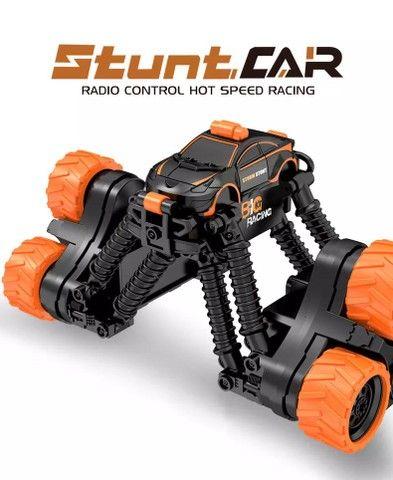 Carrinho Brinquedo Transformar Dublê 360º Gira Alta Velocidade com Controle - Foto 5