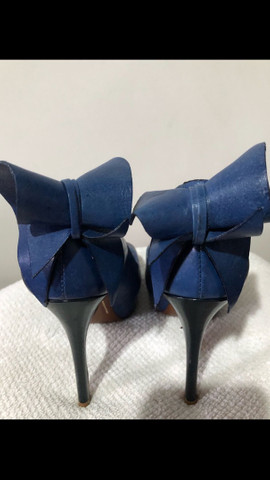 Sapato azul Schutz tamanho 34 - Foto 4