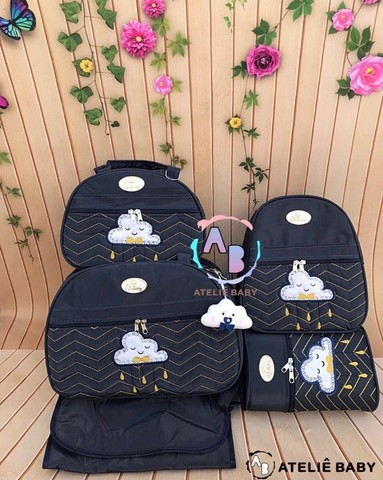 Kit de malas maternidade chuva de amor nuvem - Foto 4