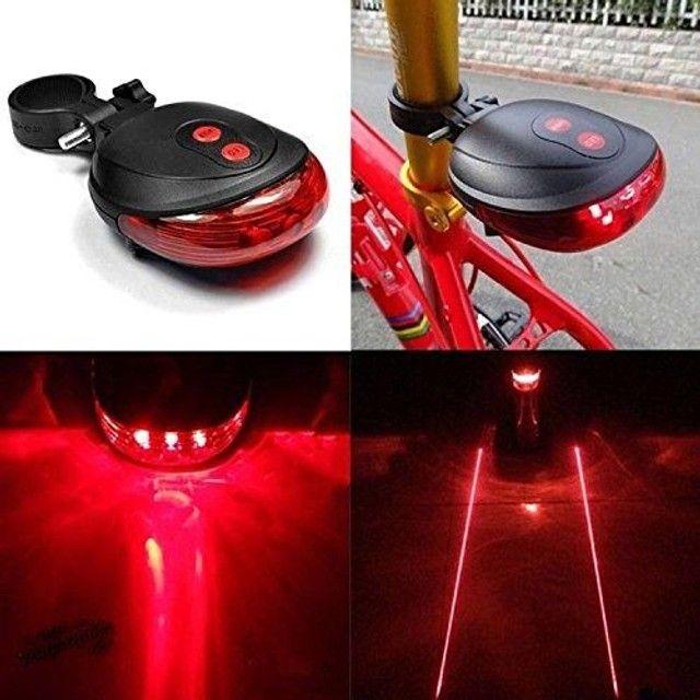 Lâmpada para Bike, bicicleta, Led, 2 Laser / vermelha / luz De Aviso De Cauda Traseira