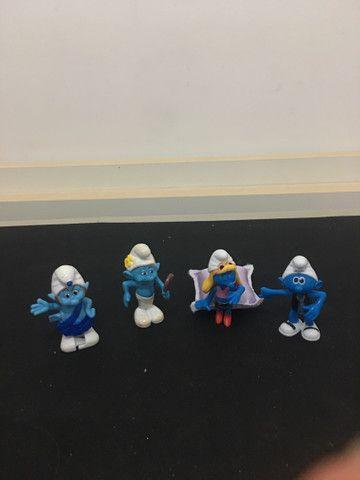 Kit brinquedo miniatura dos Smurfs