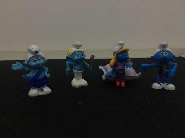 Kit brinquedo miniatura dos Smurfs - Foto 2