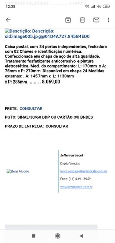 ARMÁRIO CAIXA DE CORREIO PARA CONDOMÍNIOS 84 GAVETAS - Foto 4