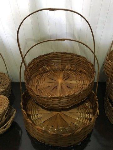 Cestas de bambu e balaoes para revenda - Foto 2