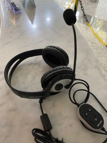 Headphone Microsoft LifeChat LX-3000, fora da caixa, mas sem uso, na garantia - Foto 5