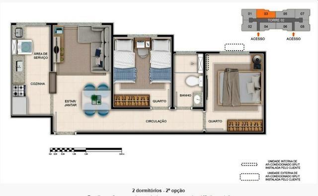 Apartamentos com 2 dormitórios em construção próximo ao shopping - Foto 4