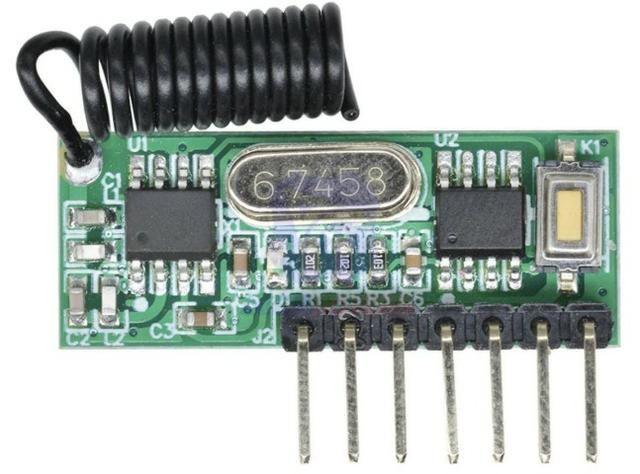 COD-AM308 Módulo Rf 433MHz Sem Fio Receptor De Controle Remoto 4 Canais aprendizagem