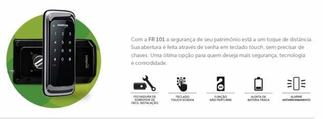 FR 101 - Fechadura Digital (entrego no metro linha azul até 3x cartão)