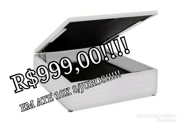 Black friday confira!!!box bau ortobom casal!!!r$999,00!!!