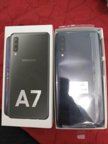 Samsung A7 nunca usado com nota - Foto 2