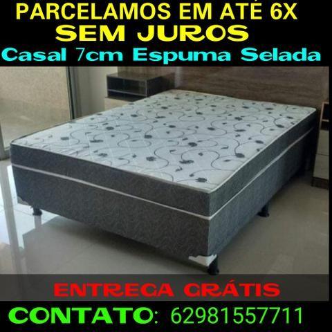 Unibox Casal 7cm Espuma Selada * FRETE GRÁTIS!!